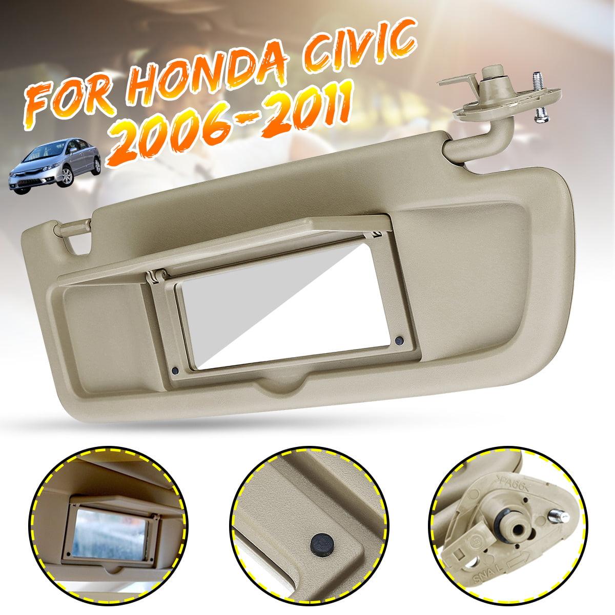 Left Driver Side Sun Visor Replacement for 2006 2007 2008 2009 2010 2011 Honda Civic EX LX Sedan SI Coupe 83280-SNA-A01ZA Sun Visor Assembly Atlas Gray