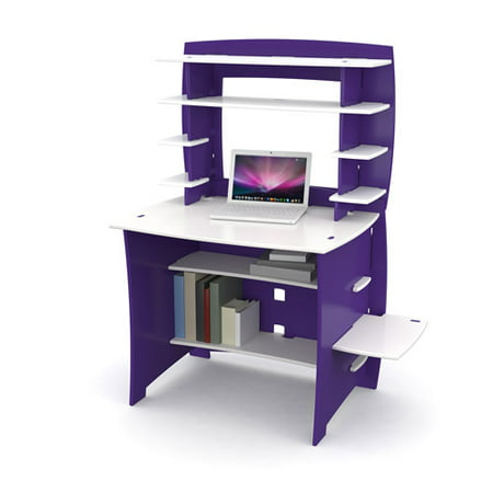 Sensational No Tools Assembly Select Student Desk With Hutch Purple And White Home Interior And Landscaping Analalmasignezvosmurscom