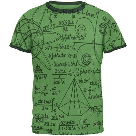 Math Geek Formula Mens Ringer T Shirt
