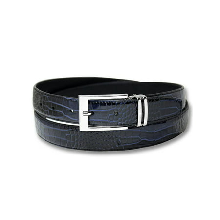 Biagio Croc Embossed NAVY BLUE Men