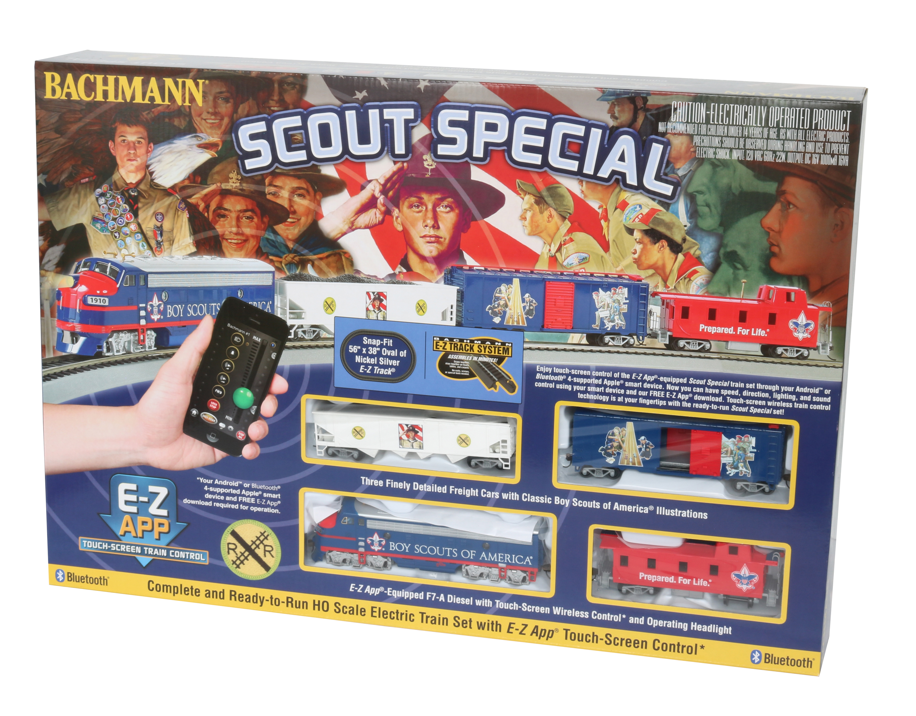 Bachmann Trains SCOUT SPECIAL BOY SCOUTS OF AMERICA E-Z App Smart Phone Controled Electric... by Bachmann Trains