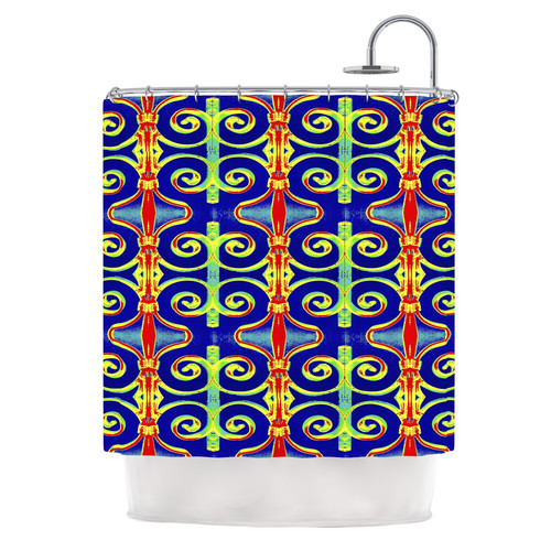 East Urban Home Swirl Away by Anne LaBrie Shower Curtain