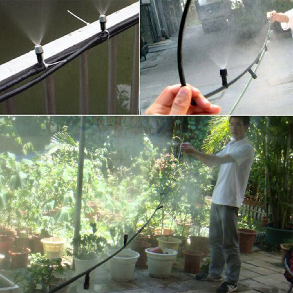 Outdoor Garden Plants Irrigator Patio Atrium Green House Misting Cooling System with... by