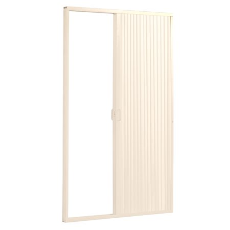 Pleated Folding RV Shower Doors Ivory-48