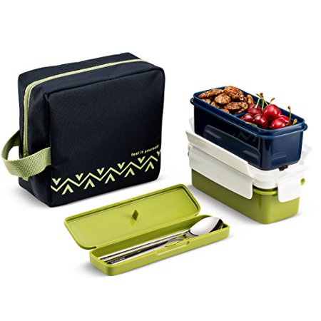 komax lunchmate bento lunch bag and box kit insulated bag with 2 biokips food storage airtight. Black Bedroom Furniture Sets. Home Design Ideas