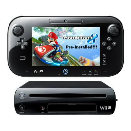 Refurbished Nintendo Wii U 32GB Mario Kart 8 Pre-Installed Game Deluxe Set Bundle