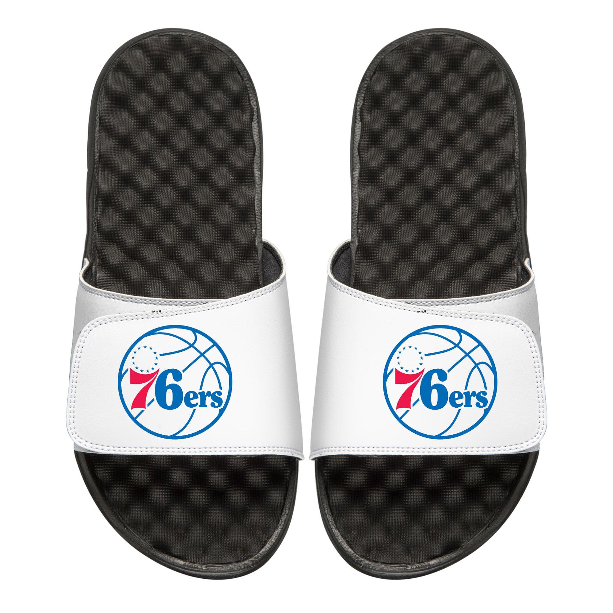 Philadelphia 76ers Youth Primary iSlide Sandals - White
