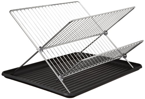 Cookpro 309 Chrome Dish Rack 2-tier Stand & Plastic Drain by Cookpro