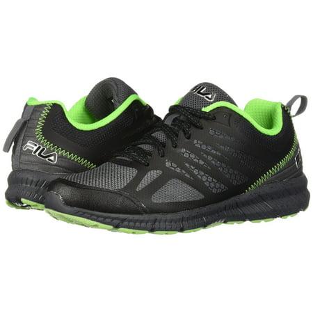1f7fe163e7b1 Fila Memory Speedstride Trail Mens Low Top Athletic Running Shoes (Dark  Silver -Black -Green Gecko
