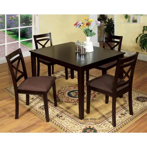 Furniture Of America Seline Espresso 5 Piece Dining Set