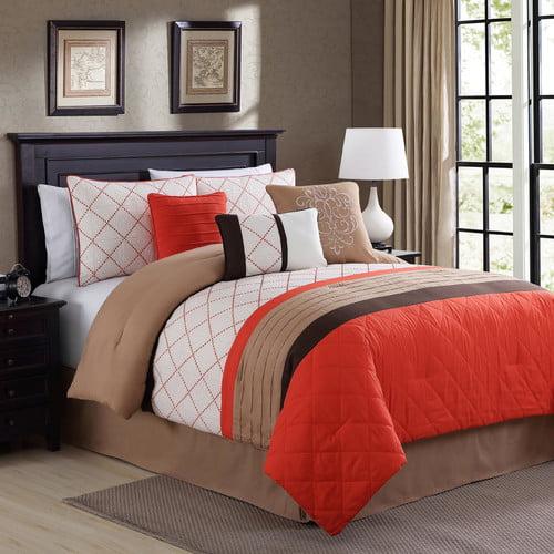 Elight Home Orelia Embroidered 7 Piece Comforter Set