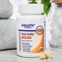(2 Pack) Equate 1-daily Womens 100 Ct