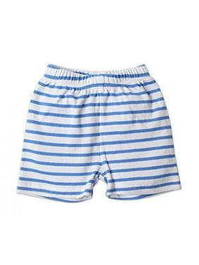 Zutano Baby Shorts Periwinkle Breton, 6 Months