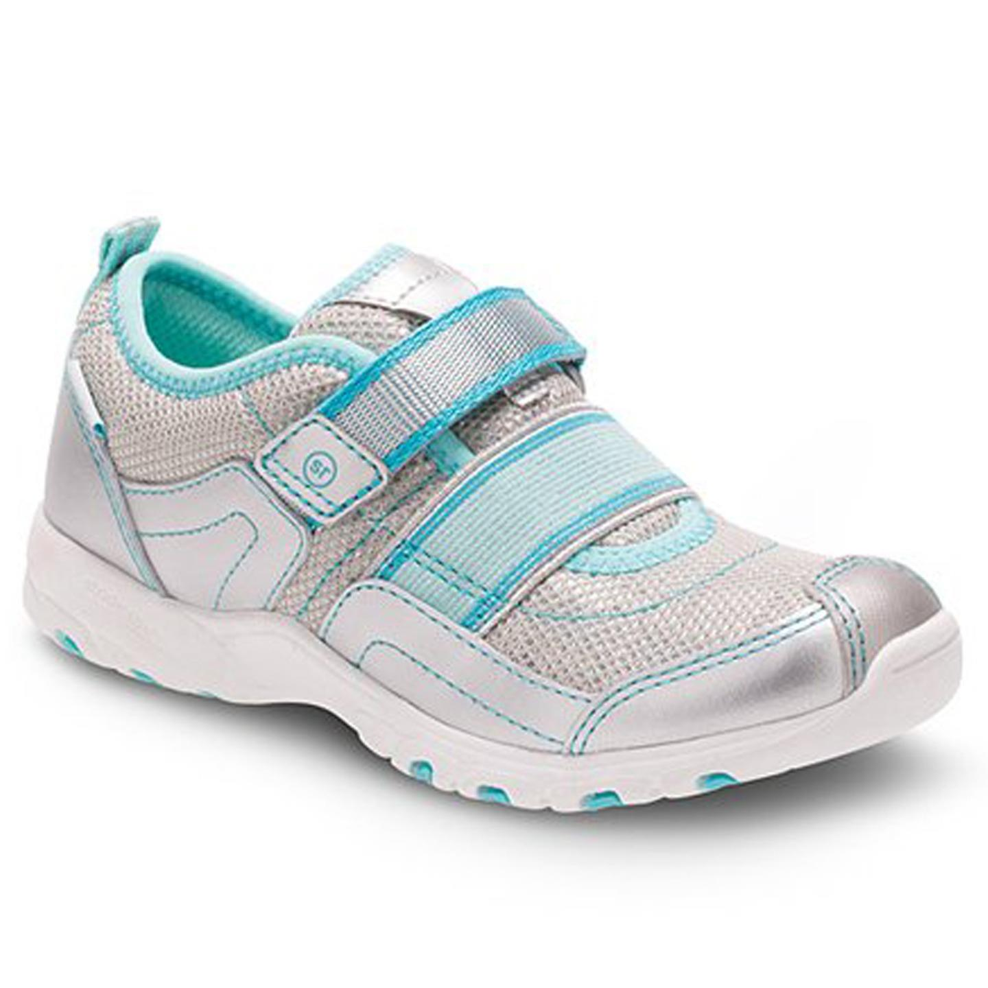 Stride Rite Felicia Girls Silver Turquoise�Sneaker Toddler 11 W by Stride Rite