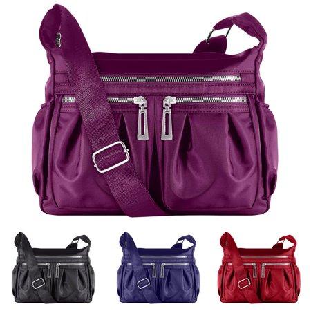 Fashionable Cross-body Bag Faayfian Waterproof Shoulder Bag Casual Bag Handbag for Women, Purple (handbag nine west for women)