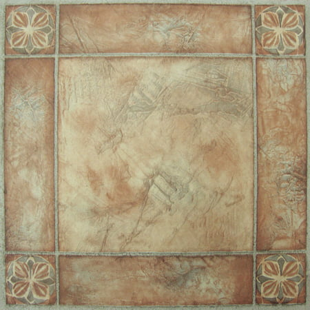 Achim Nexus Spanish Rose 12x12 Self Adhesive Vinyl Floor Tile - 20 Tiles/20 sq. ft.](Mirror Tiles 12x12)
