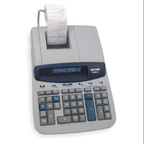 """12-1/2"""" Printing, Desktop Financial Calculator, Victor, 1560-6"""