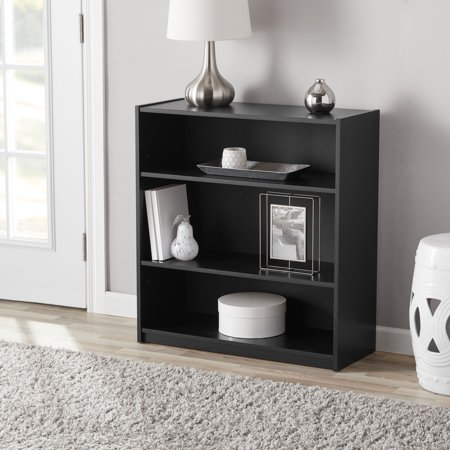 "Mainstays 31"" 3-Shelf Standard Bookcase, Multiple Finishes"