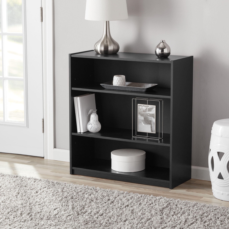 "Mainstays 31"" 3-Shelf Standard Bookcase, Espresso"