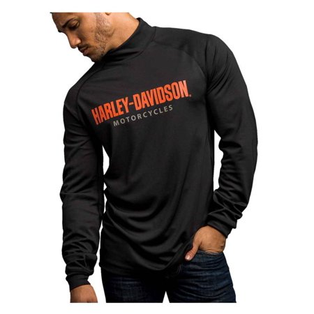 Harley-Davidson Men's Turn To Victory Performance Mock Neck Shirt 5P34-HB4L, Harley - Harley Davidson Novelties