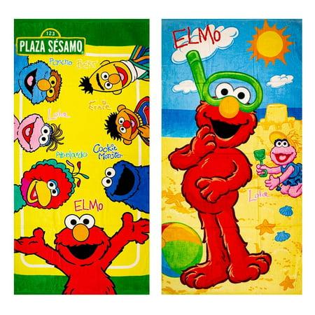 2pk Disney Marvel DC Looney Tunes Sesame Street Beach Bath Gym Kids Adult Towel