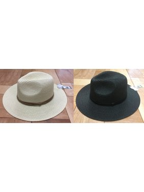 Time and Tru Women's Straw Fedora 2-Pack