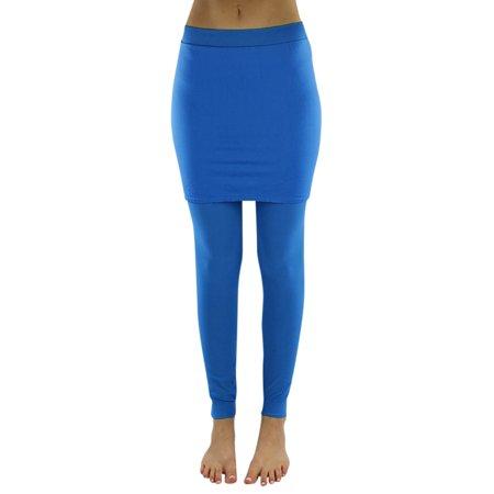 Opaque Stretchy Skirt Over Leggings - Skirts Leggings