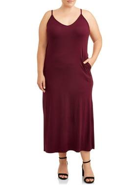 Love Sadie Women's Plus Size Maxi Dress With Pockets