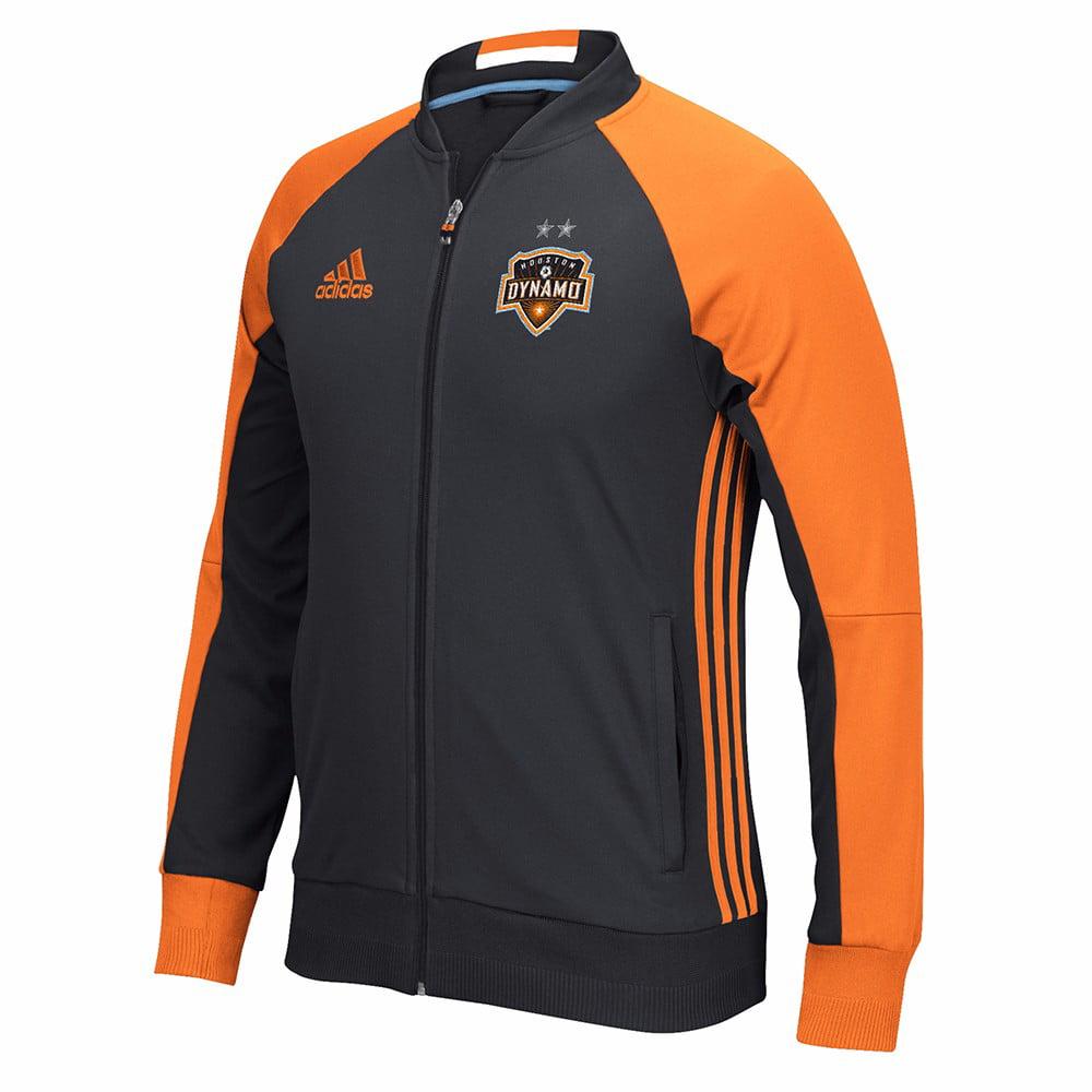 Houston Dynamo MLS Adidas Black Anthem Full Zip Track  Jacket For Men