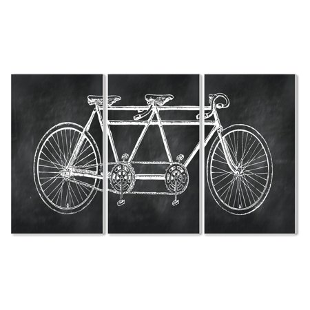 The Stupell Home Decor Collection Tandem Bicycle Wall Plaque Set Of 3