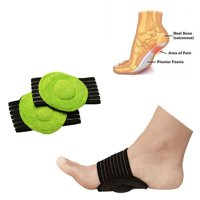 Men and Women Compression Copper Arch Support Brace (Pair) - Plantar Fasciitis Sleeves for Pain Relief, Heel Spurs and Flat Feet