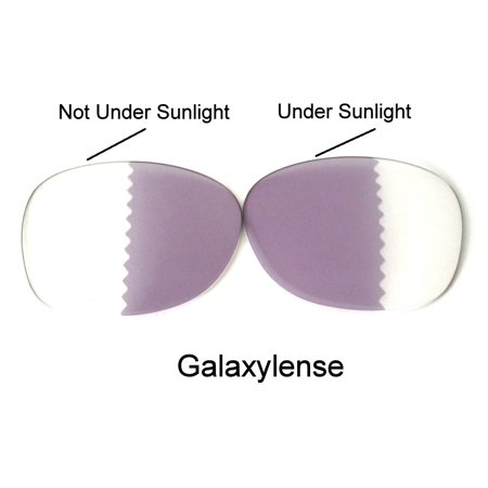 Galaxy Replacement Lenses for Oakley RB 2132 Photochromic Transition Change To Darker Grey (Transitions Photochromic Lenses)