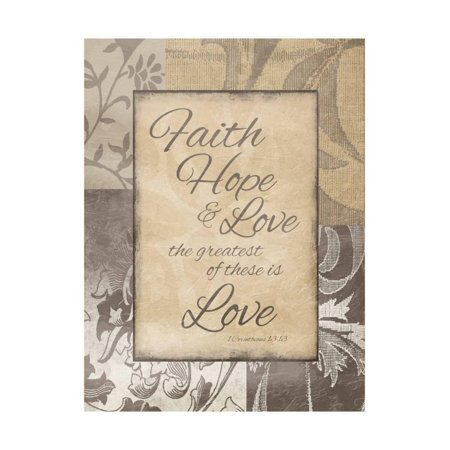 Faith Hope Love Print Wall Art By Jace Grey