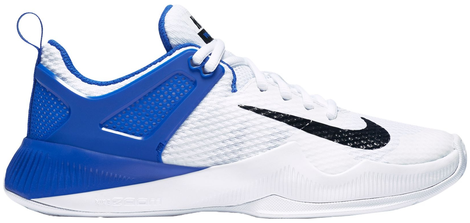 Nike Women's Air Zoom HyperAce Volleyball Shoes (White/Black/Blue, 7.0)