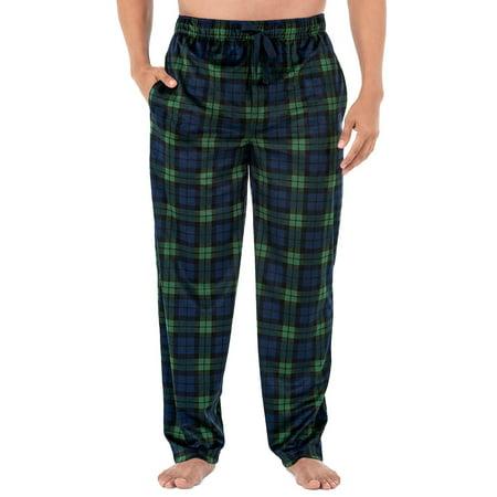 Izod Men's Micro Fleece Pajama Pant in Navy, Size Large