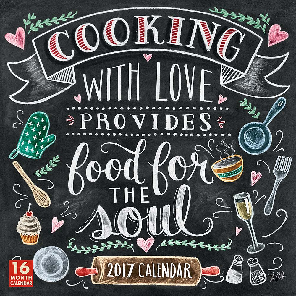 Cooking with Love Provides Food for the Soul Wall Cale