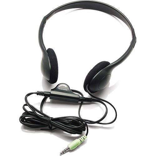 Inland Lightweight Headphones with Volume Control