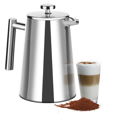 50 Ounce (1500ml) French Press Coffee Maker – Stainless Steel 18/10 SFP- 50DSC – Stainless Steel Screen Included