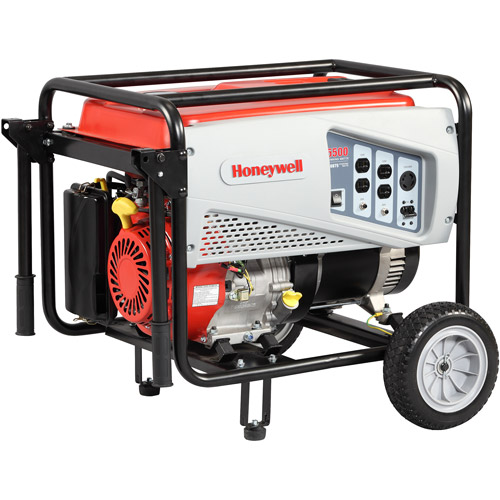 Honeywell 6037, 5,500 Watt Portable Gas Powered Generator with Electric Start