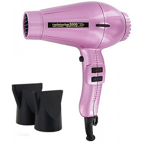 Turbo LIGHTWEIGHT 2000 Watt Professional ITALIAN Hair Dryer with Multi Temperature/Speeds Control and True Cold Shot Button