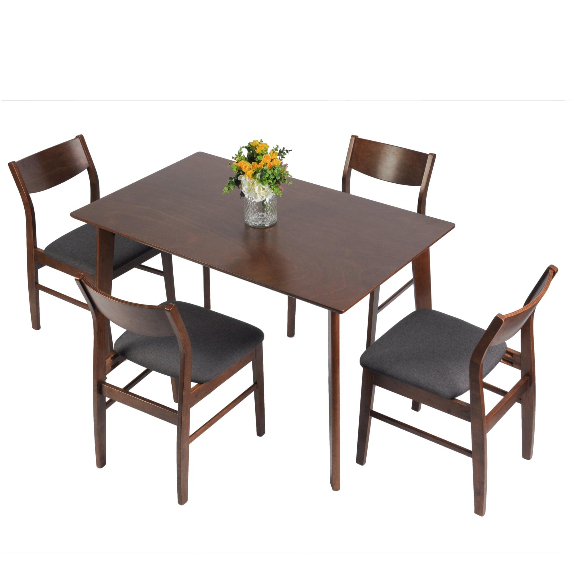 KARMAS PRODUCT 5 Piece Dining Room Table Set Mid Century ...