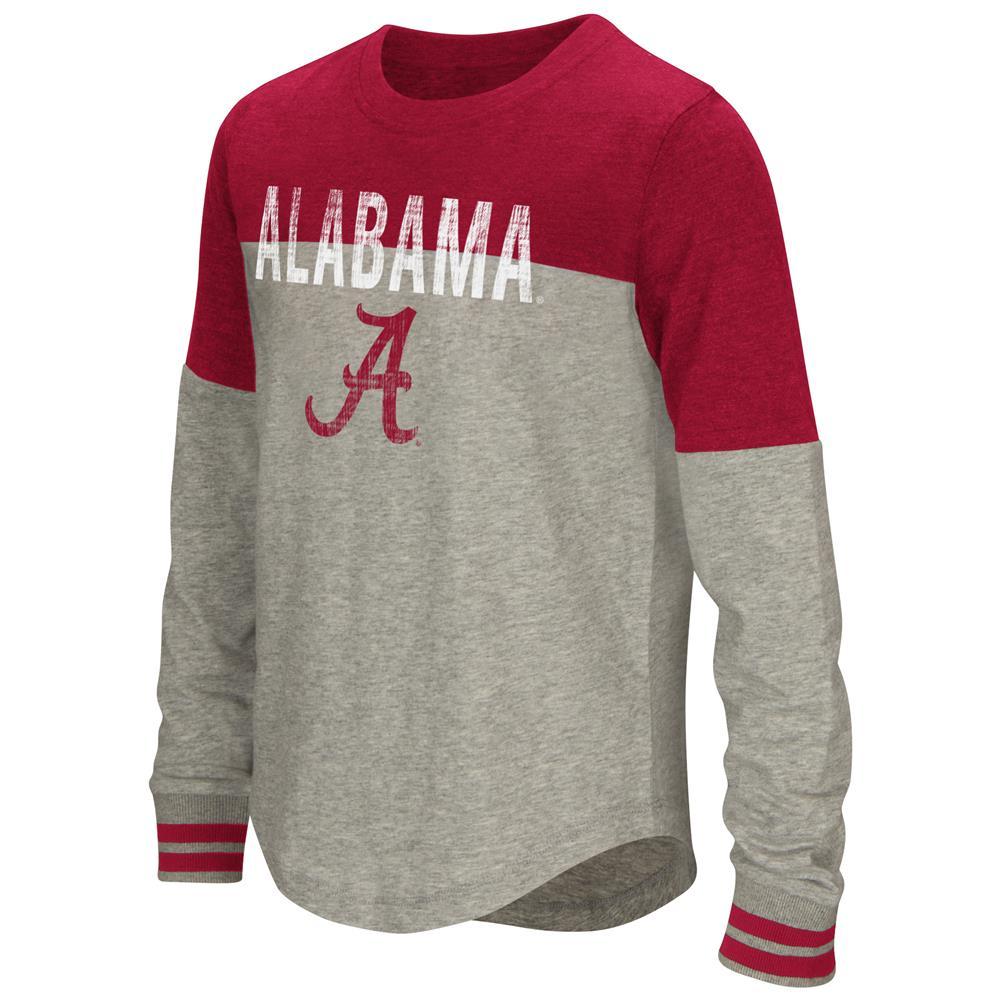 Youth Girls' Baton Alabama Crimson Tide Bama Long Sleeve Shirt
