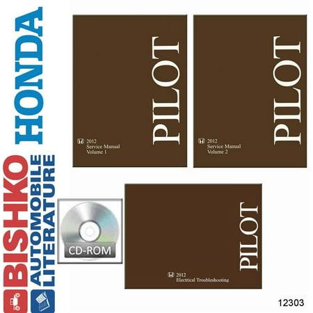 Bishko OEM Digital Repair Maintenance Shop Manual CD for Honda Pilot 2012 ()