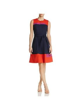 d3792f49bd1 Product Image BOSS Hugo Boss Womens Hadesa Colorblock Fit   Flare Wear to  Work Dress