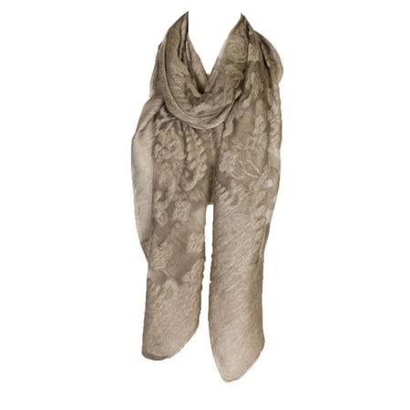 Lace Silk Wrap (Women's Laies Fshion Long Silk Burnout Lace Beach Shawl Wrap Scarf Neck Scarves)