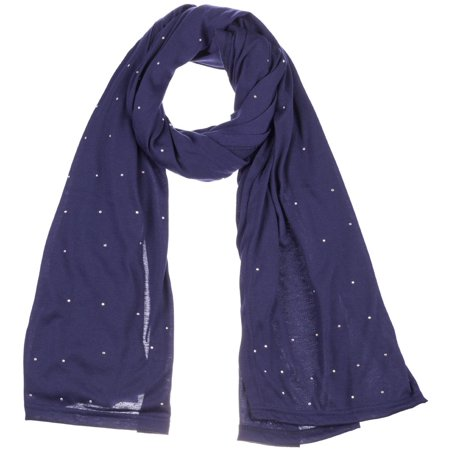 - Women's Jersey Rhinestones scarves fashion long plain scarf wrap shawls hijab