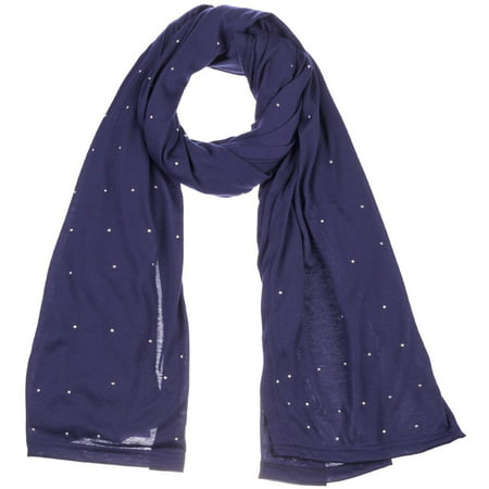 Women's Jersey Rhinestones scarves fashion long plain scarf wrap shawls