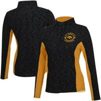 Women's Black Iowa Hawkeyes Tech Seal V2 Half-Zip Pullover Jacket