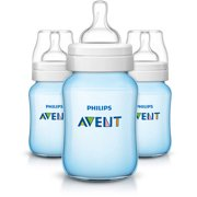 Philips Classic Plus Baby Bottle, 9 Ounces, 3-Pack, BPA-Free, SCF563/37