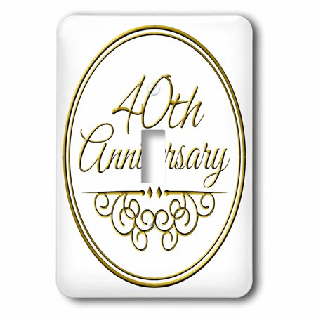 3dRose 40th Anniversary gift - gold text for celebrating wedding anniversaries - 40 years married together, 2 Plug Outlet (40% Off Outlet)